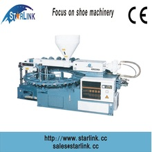 STARLINK PVC TPR TPU single color rotary inject moulding plastic foam sole making machine