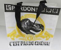 Shopper reusable shopping bags non woven with screen printed