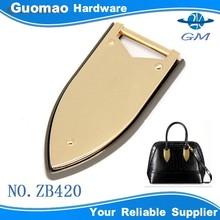 Handbag zinc alloy handle handbag leather buckles