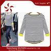 2014 New Stripe Thicken Loose Cotton Knitting Long Sleeve Women T-shirt