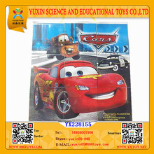 jigsaw puzzle game 3D for kids Cars jigsaw puzzle 9pcs logo customized