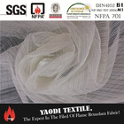 Wholesale high quality 100 polyester fire resistant sheer curtains