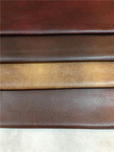 Two-color breathable embossing PU leather for sofa and car seat