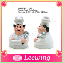 Durable Hard Plastic Super Chef Coin Bank