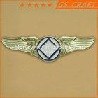 gold-plating custom wing lapel pin/metal badge