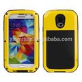 amarelo da cor de água caso a prova de metal móvel carcaça do telefone para samsung galaxy s5