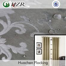 Polyester Damask jacquard decorationl fabric for glass door curtain