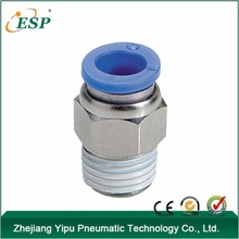 PC Straight One Touch Zinc Brass Compression Pneumatic Tube Fittings