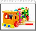 Maquillaje para la educación de madera del bebé del coche y coches de madera de madera de juguete camiones