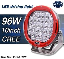 Red Black Ring 96W 111w high power 185 watt led driving light