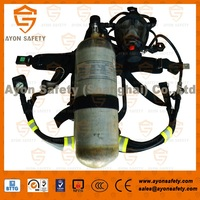 EN137 Self-Contained Breathing Apparatus (SCBA) with 9L Carbon fiber cylinder for military and civil defence using-Ayonsafety