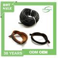 Top qualidade flat pulseira cordão de couro, 3mm couro genuíno cabo grosso para pulseira
