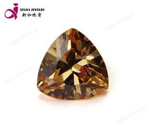 clear champagne color triangle cubic zirconia cz stones rough diamond