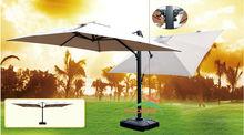 Alu deluxe double pendaison parapluie grand parapluie