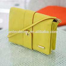 new stylish yellow fashion laides thin shoulder bag message bag