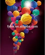 High twist colorful woolen yarn