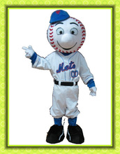 Good visual plush mr met costume/ mr met mascot costume mr met costume/ met mascot