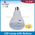 E27/b22 base de corte de energia controle remoto sem fio recarregável lâmpada led com bateria