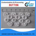 ronda de resina blanca sujetador rápido juego de botones