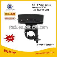 Free Shipping 20m waterproof 1080P Full HD Motorcycle Helmet Camera, Mini Outdoor Camera, Sports DVR