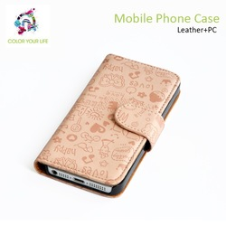 2014 cheap price high quality plastic funky mobile phone leather case