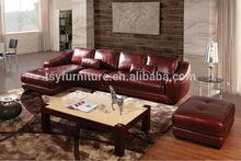 italian leather sectional sofa/sofa set purple leather sofa/purple sofa