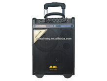 dual 8 inch 75watt wood amplifier speaker active karaoke speaker with USB SD card FM MIC