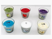 glass bottle color and scented candle