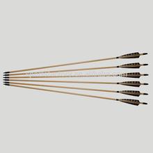 """hunting wood arrow archery wood arrow with 5"""" turkey feather wood arrow with nock"""