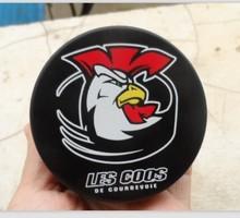 100% rubber material logo printing hockey puck