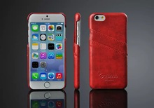 Elegant hand made card holder for iPhone 6 leather cases 4.7