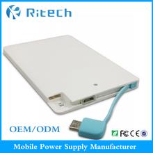 Portable powerbank credit card power bank 2300mah