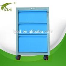 Modern 3 drawer steel mobile cabinet