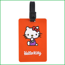 plastic photo luggage tag with cartoon design