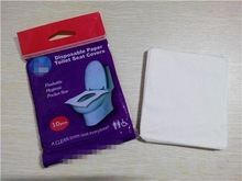 1/16 Fold Travel Recycle Pulp Disposable Paper Bathroom Toilet Seat Covers