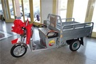 650W cargo electro pedal tricycle with cabin for adults