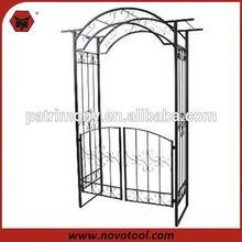 metal rose garden wedding arch with gate
