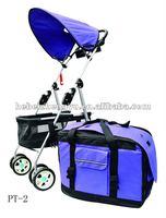 aluminum pet trolley/trolley pet carrier/dog strollers pet trolley