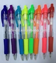 color retractable gel pen