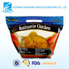 Custom made transparent plastic resealable stand up pouch for chicken