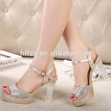 HFR-T0064 wholesale latest design crystal fashion women high heel sandals summer 2014