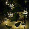 10 Balls Moroccan Solar String Lanterns Christmas tree Indoor Outdoor Lighting Balls, led solar outdoor christmas tree light