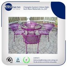 Hot sale pink colour decorative metal furniture powder coating