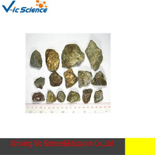 Teaching specimens of natural chalcopyrite mineral raw rough rock samples test specimens