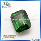 FACETS GEMS Customizing Emerald Cut CZ Emerald Price Per Carat