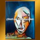 Wholesale Handmade Modern Abstract Face Oil Painting Pop Oils Art