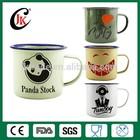 Wholesale customized logo printing camping enamel mug