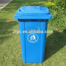 240L outdoor plastic dustbin/ waste can/ garbage bin