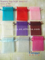 Hot sale many colors 3x4 inches high density sheer organza bag/party bag
