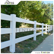 High Quality Made in China Fentech Cheap 3 Rail PVC Goat Fence Panel for Sale